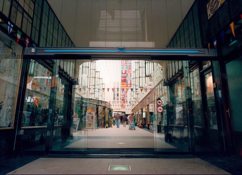 winkelcentrum schuifdeur