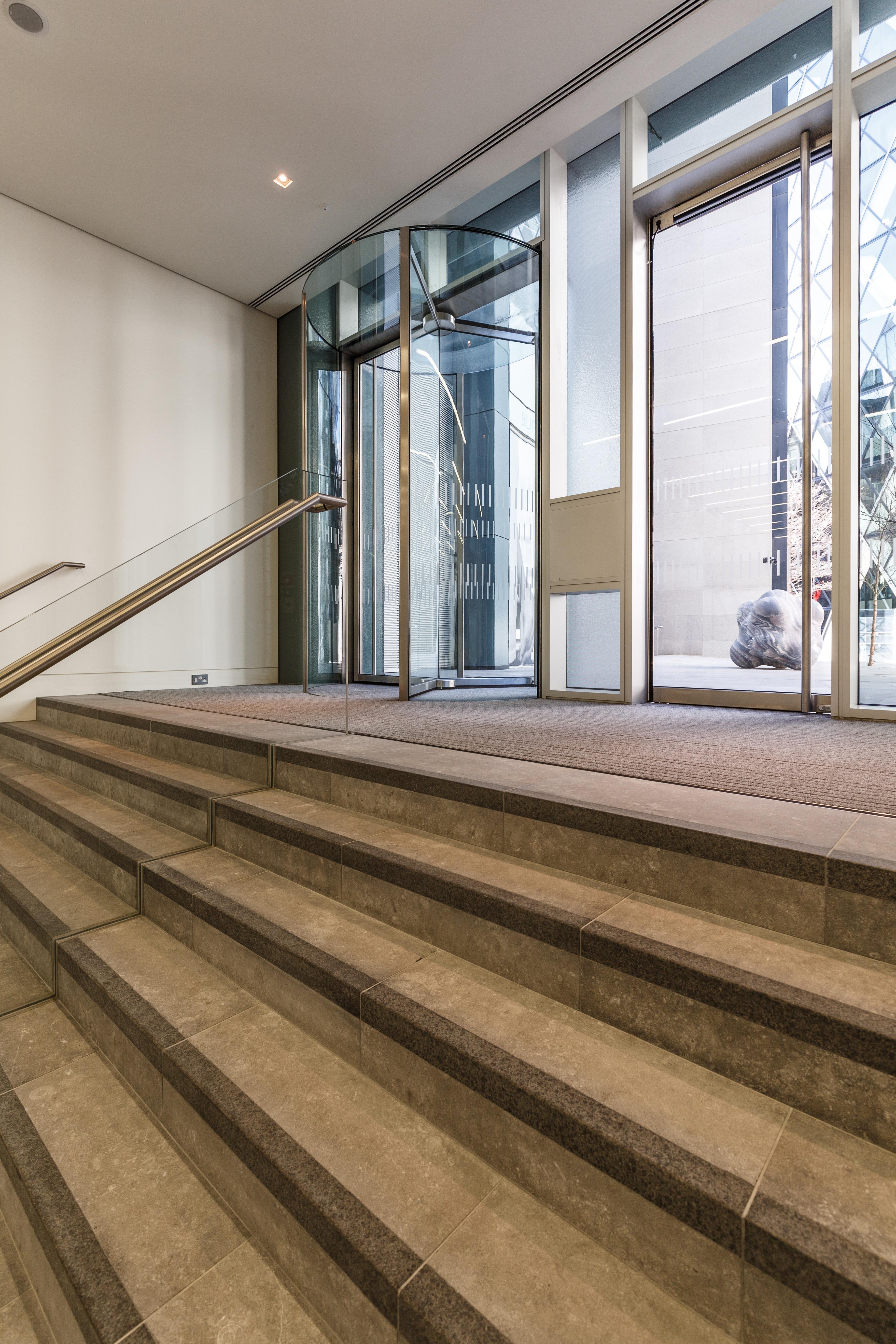 Bevis Marks Full Glass Revolving Doors